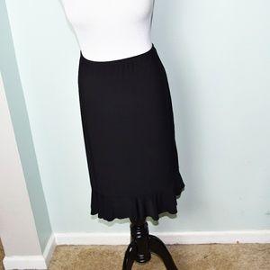Super Cute Black Ruffle Skirt